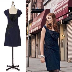Anthro Floreat Midnight Blue Sunless Skies Dress